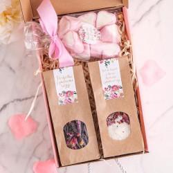 PREZENT dla Babci Box Z PODPISEM Różowy I MAŁY