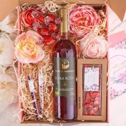 PREZENT dla Babci Z PODPISEM Wino i czekolada MEGA DUŻY