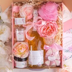 PREZENT dla Babci z winem musującym Z PODPISEM Mega Róż