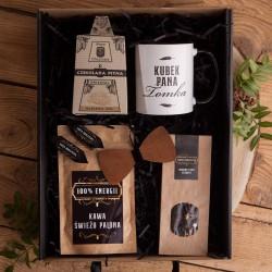 PREZENT dla Nauczyciela Z IMIENIEM kubek kawa i herbata Mega Box