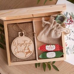PREZENT świąteczny dla dziecka Z PODPISEM na pieniądze Bombka i krówki