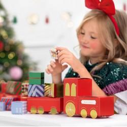 KALENDARZ adwentowy Pociąg z wagonikami i prezentami