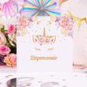 ZAPROSZENIA na Urodziny dziecka Unicorn  Jednorożec 10szt (+koperty)