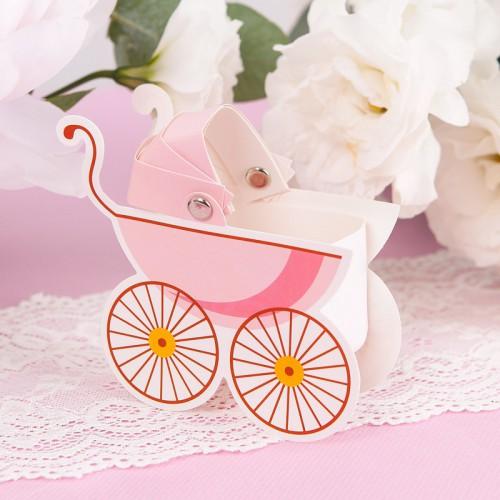 PUDEŁECZKA podziękowanie Różowe Wózki 10szt