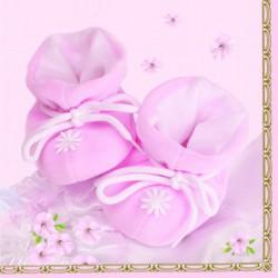 SERWETKI Różowe Buciki 20szt