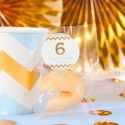 CIASTECZKA z wróżbą na Roczek i Urodziny dziecka Chevron Błękitny (+etykiety) 10szt