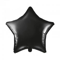 BALON foliowy Gwiazda 45cm CZARNY