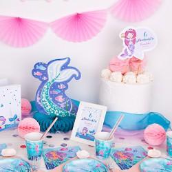 TOPPER na tort urodzinowy Syrenka Z IMIENIEM