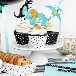 FOREMKI papilotki na muffinki DinoParty 6szt