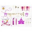 ZESTAW dekoracji na urodziny Mała Księżniczka 31 ELEMENTÓW