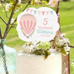 TOPPER na tort urodzinowy Balloons Z IMIENIEM