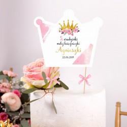 TOPPER na tort Roczek i Urodziny Mała Księżniczka Z IMIENIEM