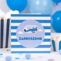 ZAPROSZENIA na Urodzinki dziecka Mały Pilot 10szt (+kolorowe koperty) OSTATNIA PACZKA