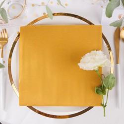 SERWETKI flizelinowe Złoty PASTEL 40x40cm 60szt