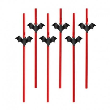 SŁOMKI Nietoperze Halloween 24cm 6szt