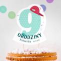 TOPPER na tort urodzinowy dla chłopca Z IMIENIEM Cyfra 9