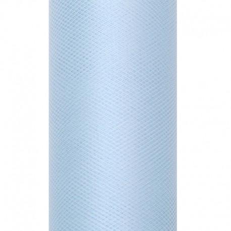 TIUL dekoracyjny 30cmx9m BŁĘKITNY