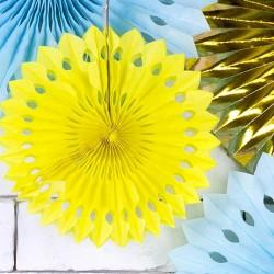 ROZETY dekoracyjne ŻÓŁTE 3szt