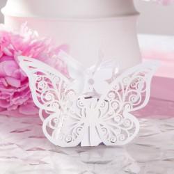 PUDEŁECZKA podziękowanie Ażurowe Motyle 10szt