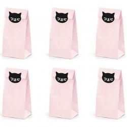 TOREBKI papierowe na słodycze Kotek 6szt