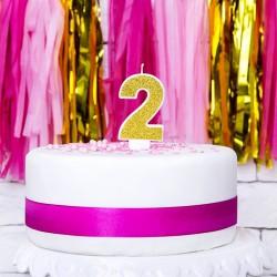 ŚWIECZKA urodzinowa Cyferka Złota WYBIERZ CYFRĘ