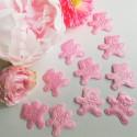 KONFETTI materiałowe Misie Różowe DUŻE 10szt KONIEC SERII