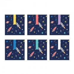 TOREBKI papierowe na upominki dla gości Kosmos 6szt