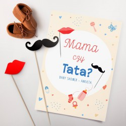 GRA Baby Shower Mama czy Tata? (+karteczki na piku)
