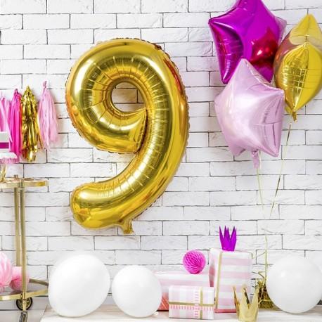 BALON foliowy urodziny 85cm CYFRA 9