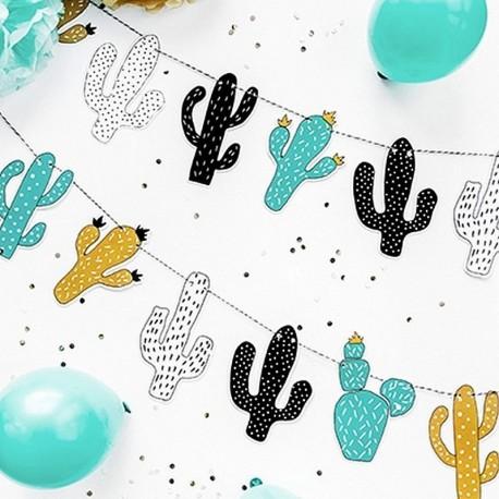 GIRLANDA papierowa  DinoParty Kaktusy 1,3m