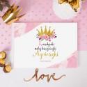 KSIĘGA Pamiątkowa na Roczek i Urodziny Mała Księżniczka Z IMIENIEM