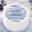 OPŁATEK na tort personalizowany na Roczek i Urodziny dziecka Mały Pilot Ø20cm