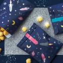 TOREBKI papierowe na upominki dla gości Astronauta 6szt