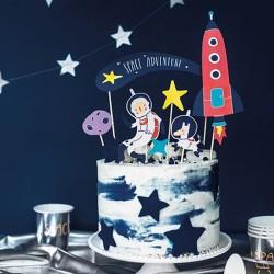 TOPPER na tort Kosmos 7szt