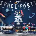 BANER Space Party Astronauta 13x96cm SREBRNY