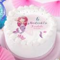 OPŁATEK na tort personalizowany na Roczek i Urodziny dziecka Syrenka Ø20cm