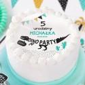 OPŁATEK na tort personalizowany na Roczek i Urodziny dziecka DinoParty Ø20cm