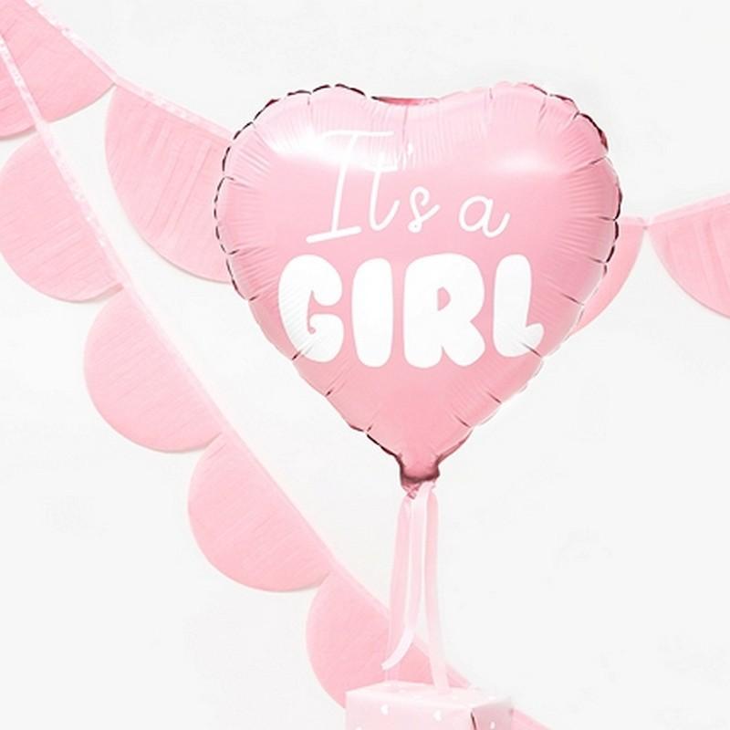 Balony na Baby Shower dziewczynki foliowe
