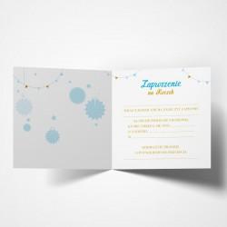ZAPROSZENIA na Roczek Niebiesko-Złota Jedynka 10szt (+koperty)