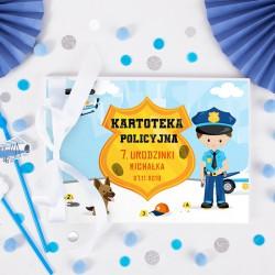 KSIĘGA Pamiątkowa Kronika Policyjna na odciski Z IMIENIEM +farbki