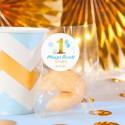 CIASTECZKA z wróżbą Roczek Niebiesko-Złota Jedynka 10szt (+etykiety)