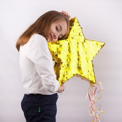 PINIATA zabawa urodzinowa Gwiazda metaliczna 44,5x42,5x9cm