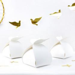 PUDEŁKA na ciasto słodycze Chrzest/Komunię ze skrzydłami 10szt