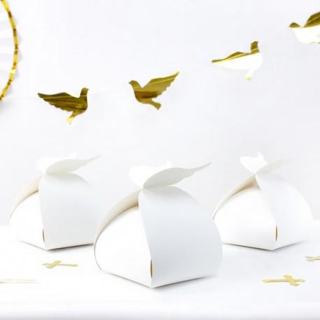 PUDEŁKA na ciasto słodycze Chrzest ze skrzydłami 10szt