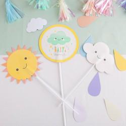 ZESTAW dekoracji na Baby Shower Chmurka 3szt