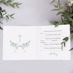 ZAPROSZENIA na Chrzest Lily of The Valley 10szt (+koperty)