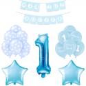 ZESTAW balonów na Roczek bukiet NIEBIESKI