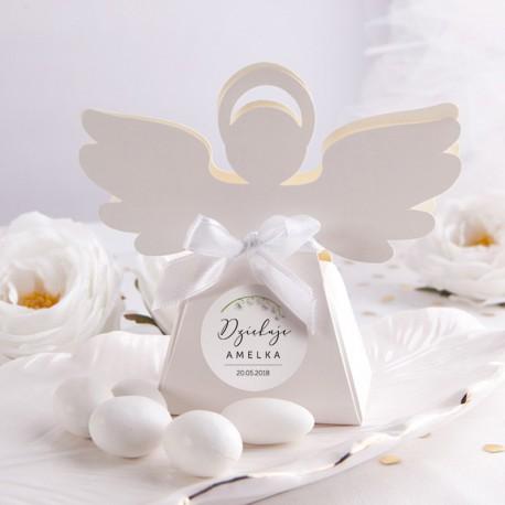 PUDEŁECZKA Aniołek Lily of the Valley 10szt (+etykiety z imieniem+białe wstążki)