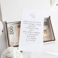 PAMIĄTKA Chrztu Świętego Pudełko drewniane na pieniądze ANIOŁEK