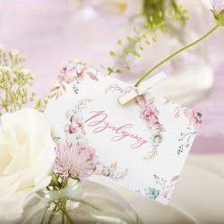 BILECIKI podziękowanie dla gości Subtelny Róż 10szt